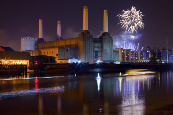 Battersea Power Station and Fireworks